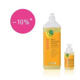 Sonett Probeflasche Olivenwaschmittel für Wolle & Seide sensitiv 120ml