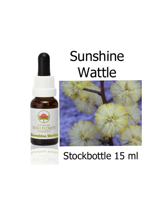 Australian Bush Flower Essences SUNSHINE WATTLE Stockbottles 15 ml