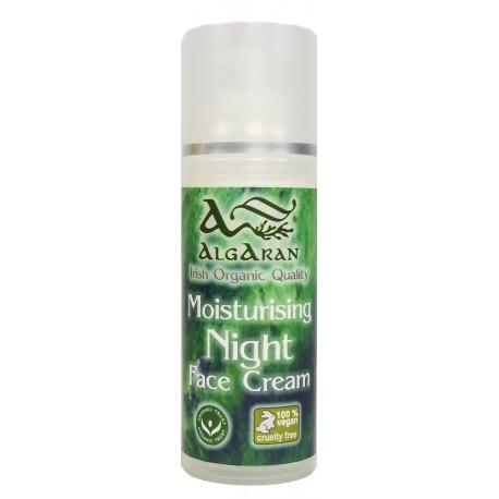 Organic Moisturising Night Cream crema notturna dosatore 50 ml Algaran Bio cosmetica naturale