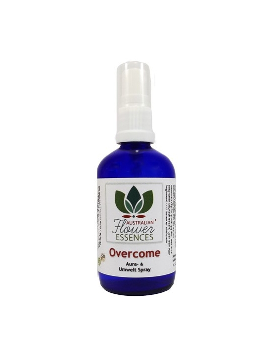 OVERCOME Australian Flower Essences spray aura ed ambientale