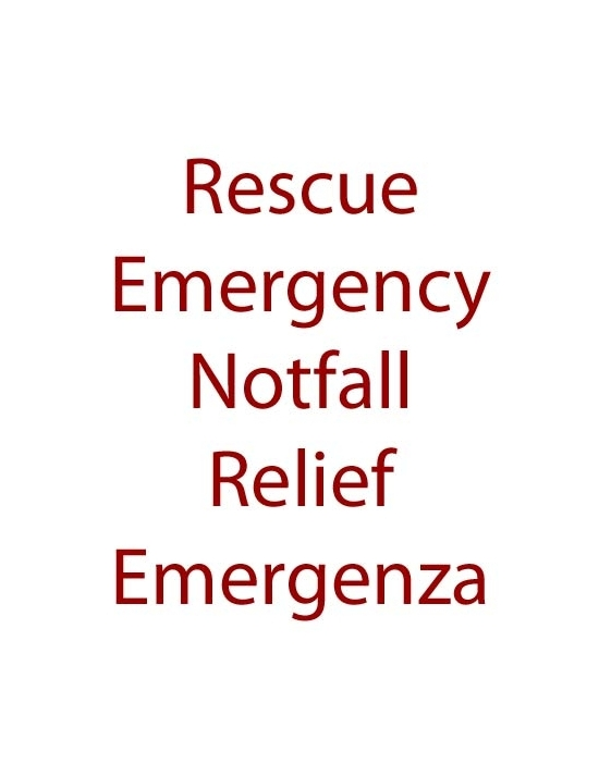 Emergency/Emergenza Rescue...