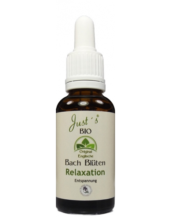 Relaxation Organic Bach Flower Remedies Blends 30 ml