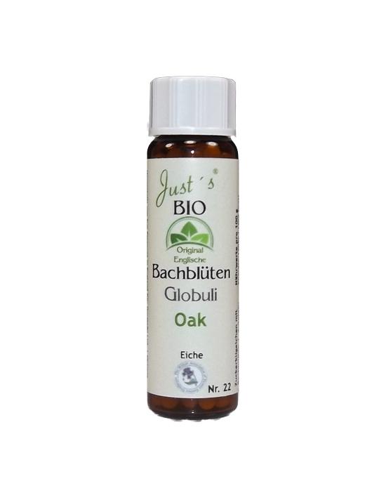 Globuli Oak Nr. 22 original englische Bio Bachblüten alkoholfrei Eiche