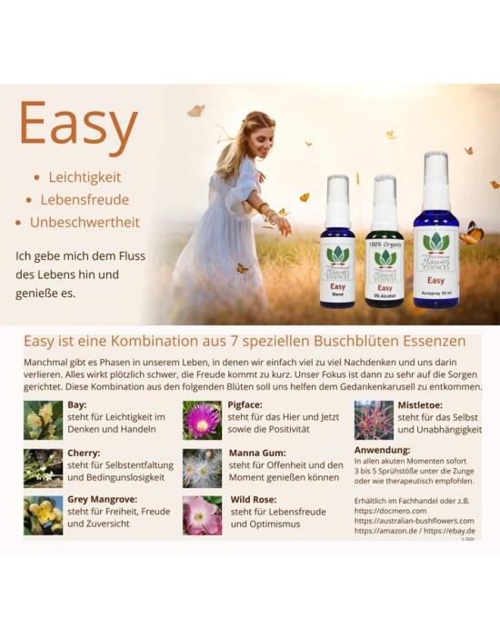 Info Bio Buschblüten Spray Easy / Leichtigkeit