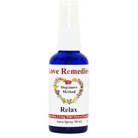 RELAX Auraspray 50 ml Australian Flower Essences Love Remedies
