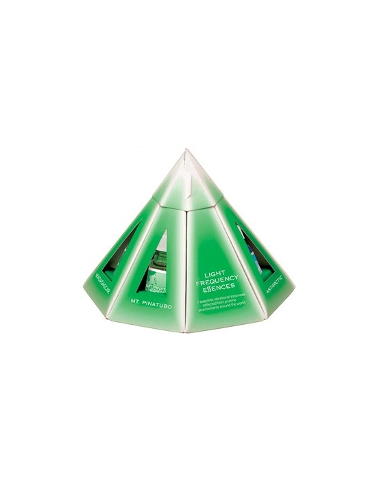 Pyramiden Pack der 7 Frequency Essenzen Stockbottles a 10 ml
