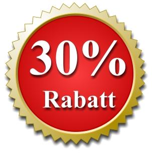 30 Prozent Rabatt auf alle BIO Bachblüten Produkte