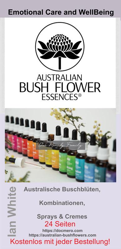 kostenlose 24 seitige Broschüre über die Australischen Buschblüten von Ian White