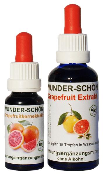 Bio Grapefruitkernextrakt ist in zwei Größen erhältlich.