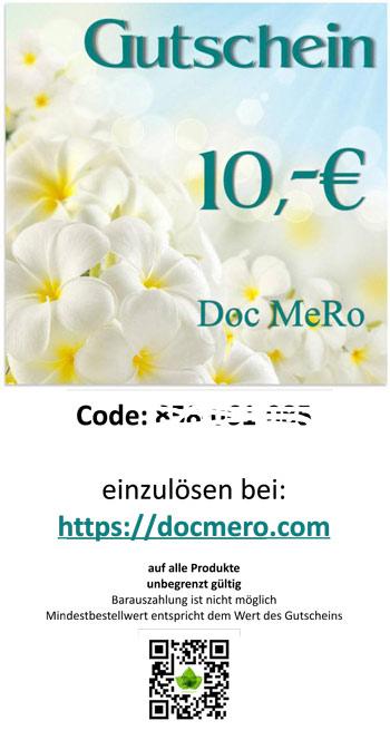 Muster des Geschenk Gutschein über 10 €