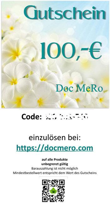 Muster des Geschenk Gutschein über 100 €