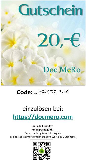 Muster des Geschenk Gutschein über 20 €