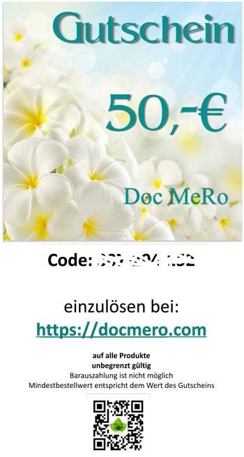 Muster des Geschenk Gutschein über 50 €